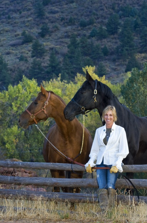 Mary Bruny - photo Karen with the horses